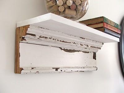 Salvage Wood Shelves DIY