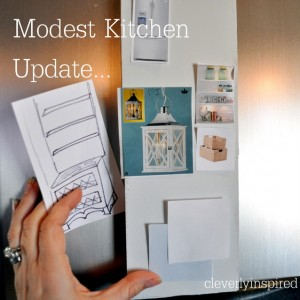 Inspiration board for the kitchen update