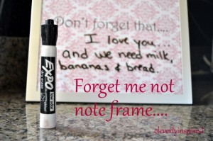 Forget me not….Note Frame