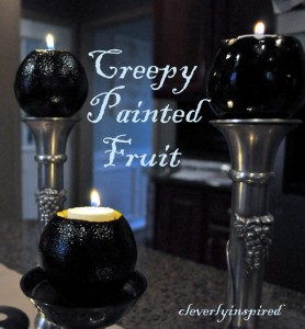 Creepy Painted Fruit