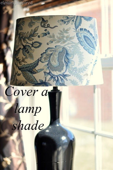 Diy cover a lampshade i found 2 shades that would fit great at targetbut they were plain whiteboring i was on the hunt to make them a bit more special aloadofball