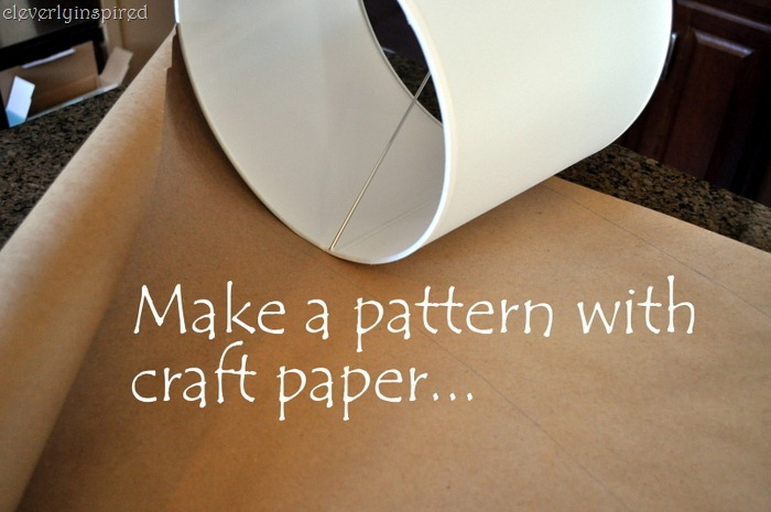 Diy cover a lampshade first take your shade and make a pattern with some craft paperor even wrapping paper works great the pattern will ensure you make your fabric the perfect aloadofball Images