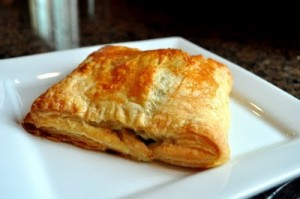 Chicken and Spinach puff pastry