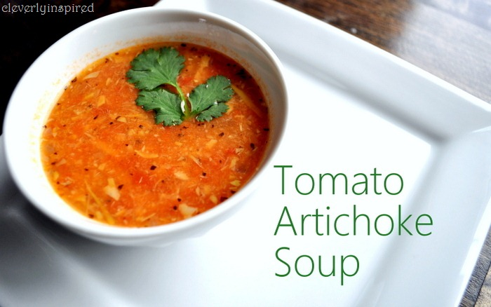 Tomato Artichoke Soup - Cleverly Inspired