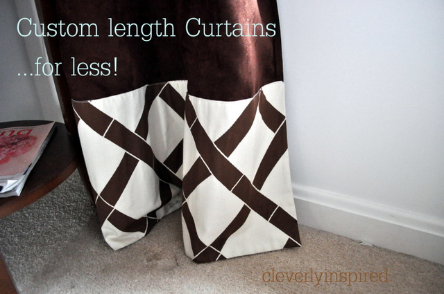 custom length curtains for less