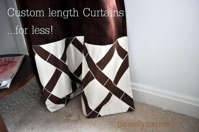 custom length curtains for less