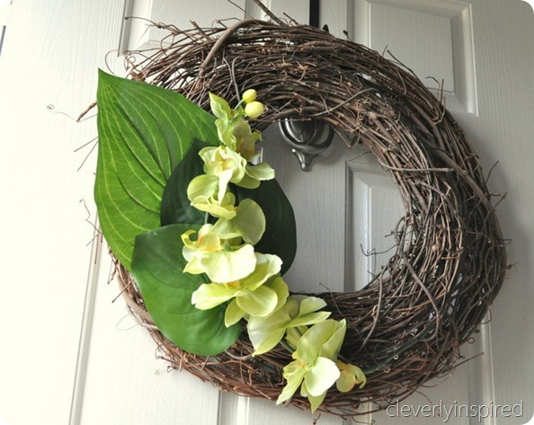 Two Minute Spring Wreath