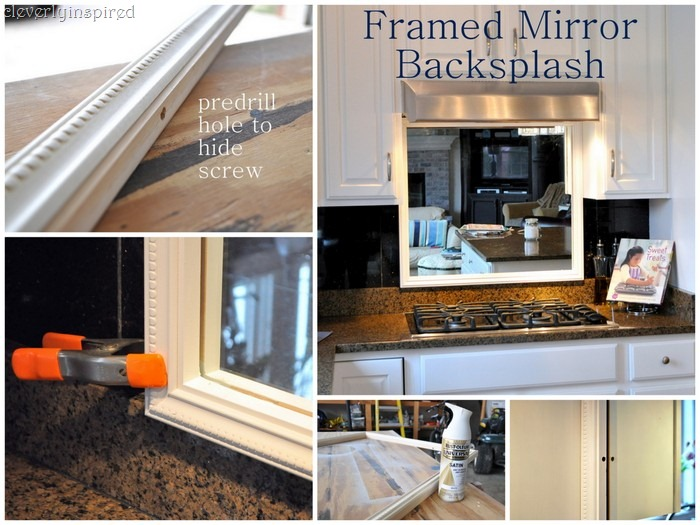 Mirror Backsplash framed mirror backsplash - cleverly inspired