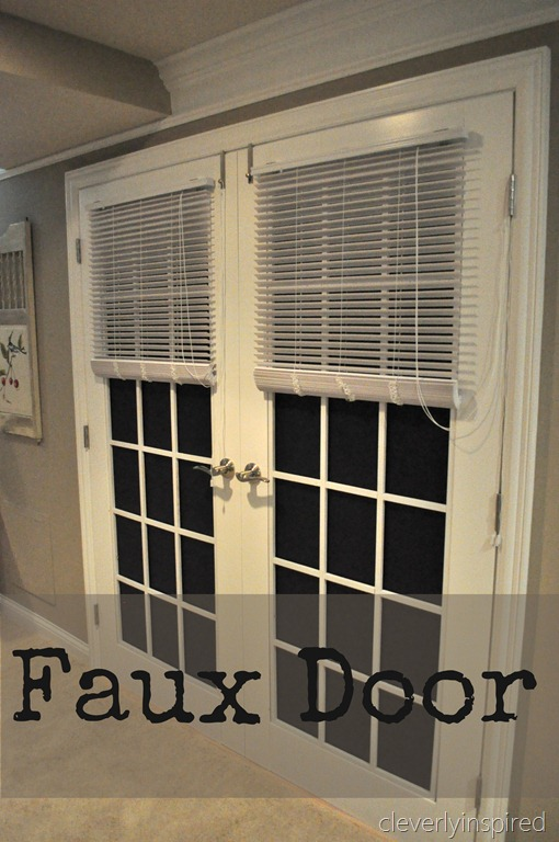 Dad 39 s faux door cleverly inspired Fake window for basement
