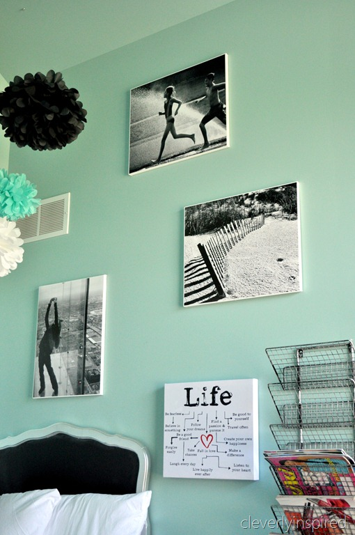 A Preteen Room In Aqua And Black Reveal Cleverly Inspired