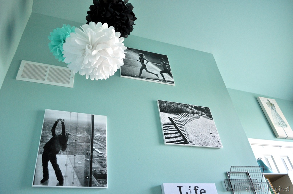A preteen room in aqua and black reveal cleverly inspired for Black white turquoise bedroom ideas