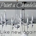 Paint a chandelier