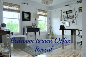 Bedroom turned into an Office: Reveal