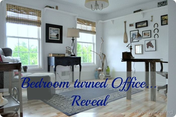 Bedroom turned into an office reveal cleverly inspired - An office turned into a home ...