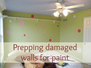 How to prep damaged walls for paint
