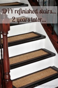 DIY refinished stairs…how they have held up…