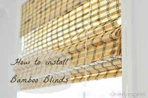 How to install Bamboo Blinds