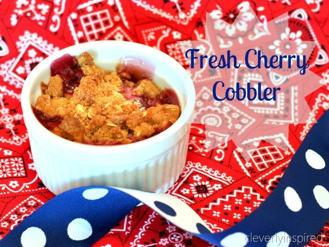 Fresh Cherry Cobbler - Cleverly Inspired