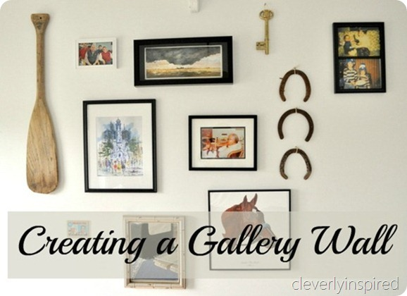 how to create a gallery wall cleverly inspired. Black Bedroom Furniture Sets. Home Design Ideas