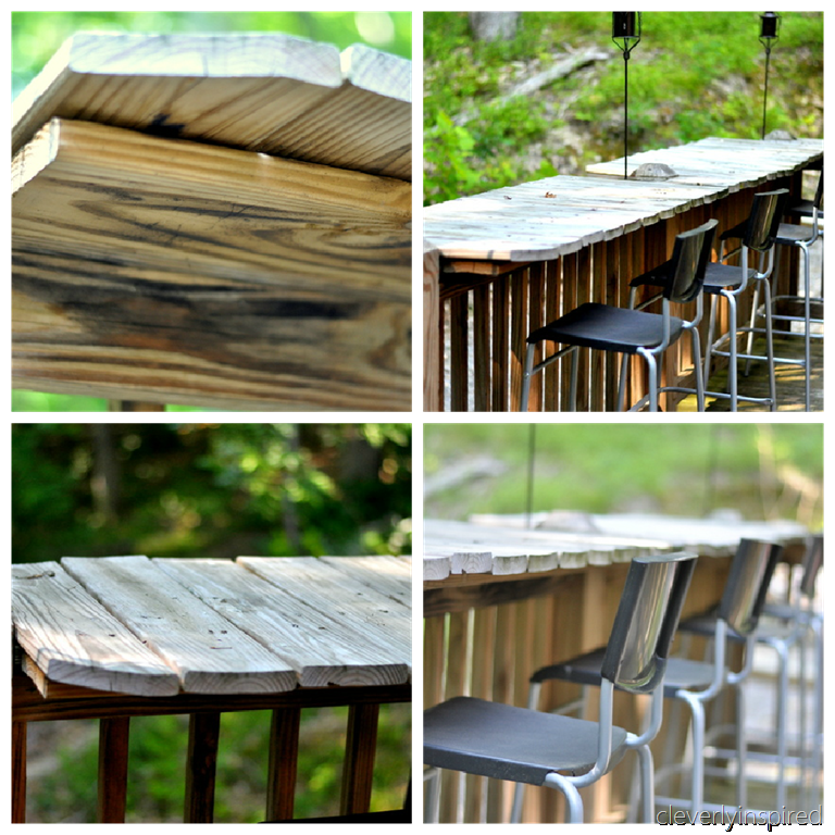 how to make a bar outdoor cleverly inspired
