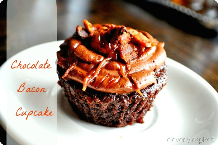 chocolate cupcake with bacon recipe (1)