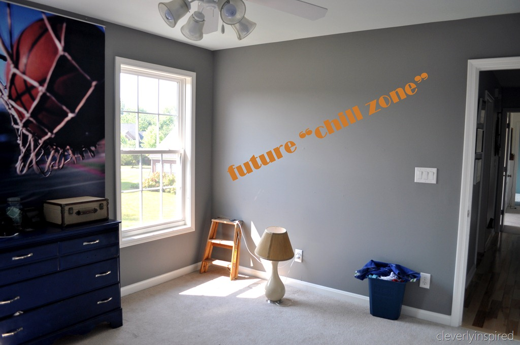 Martha Stewart Cement Gray Paint Colors : What i ve been up preteen boys room update cleverly inspired