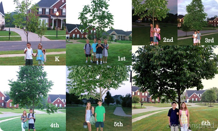 Picture idea for the First day of School (kids)