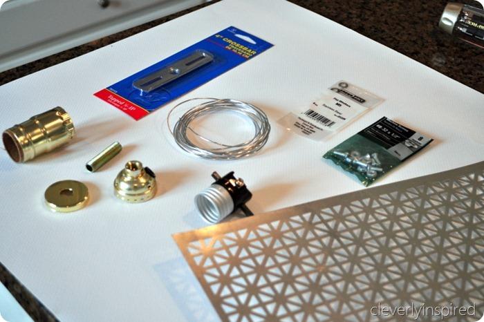 DIY metal light @cleverlyinspired (13)