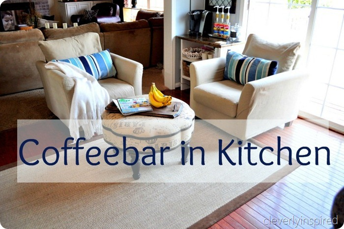 coffeebar in kitchen www.cleverlyinspired (6) 1