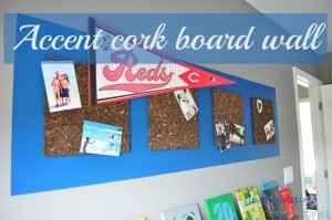 DIY cork board wall (pin board)