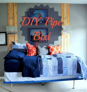 DIY pipe bed (boys room furniture)