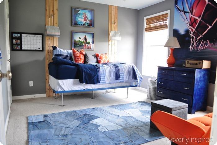 gray and orange boys room (6)