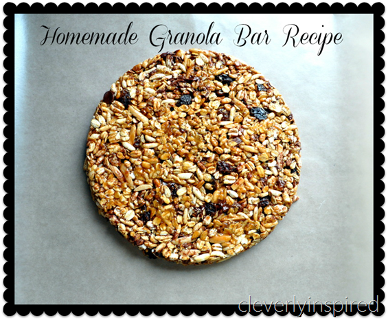 homemade granola bar recipe @cleverlyinspired (3)2