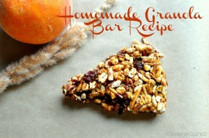 Homemade Granola Bar Recipe (healthy breakfast)