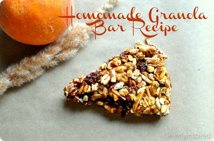 homemade granola bar recipe @cleverlyinspired (6) 2