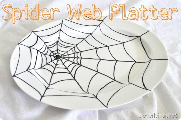 sharpie spider web platter diy @cleverlyinspired (5)