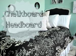 How to make a Chalkboard Headboard (diy headboard)
