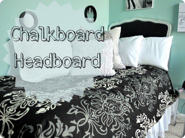 chalkboard headboard @cleverlyinspired (1)