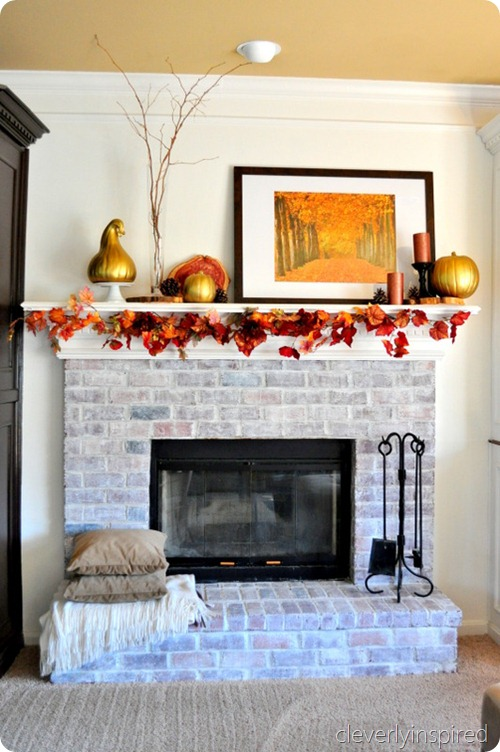 decorating a fall mantle @cleverlyinspired (1)