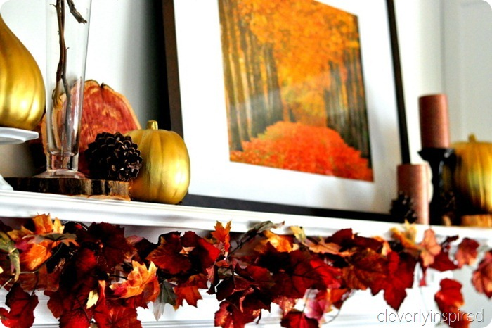 decorating a fall mantle @cleverlyinspired (2)