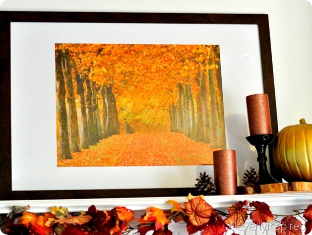 decorating a fall mantle @cleverlyinspired (3)