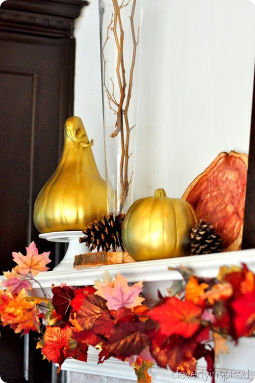 decorating a fall mantle @cleverlyinspired (4)