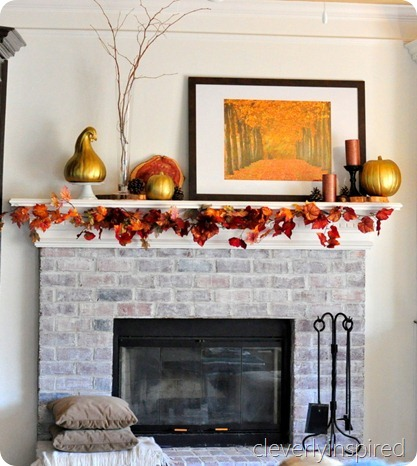 decorating a fall mantle @cleverlyinspired (7)