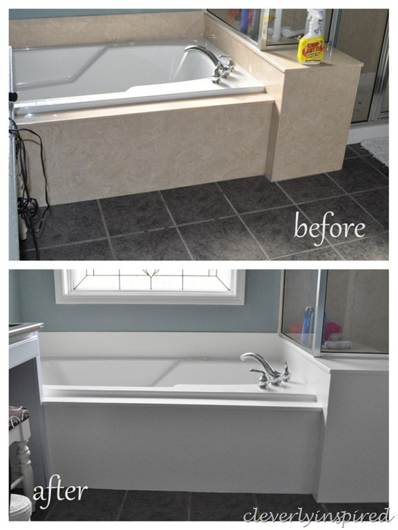 How To Paint Cultured Marble Tub Surround @cleverlyinspired (1)