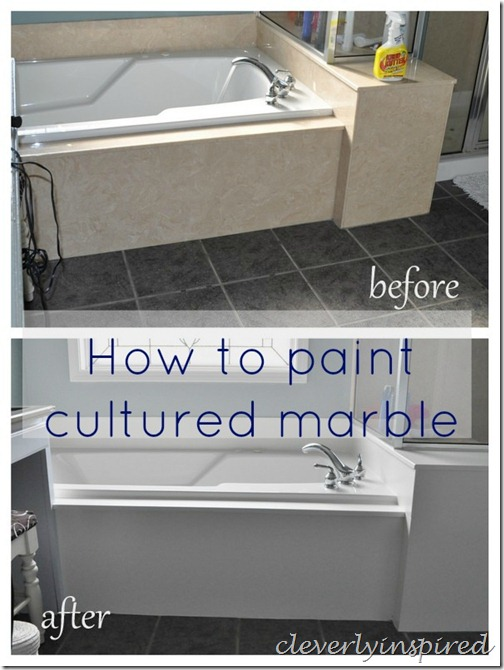 how to paint cultured marble tub surround @cleverlyinspired (1)2