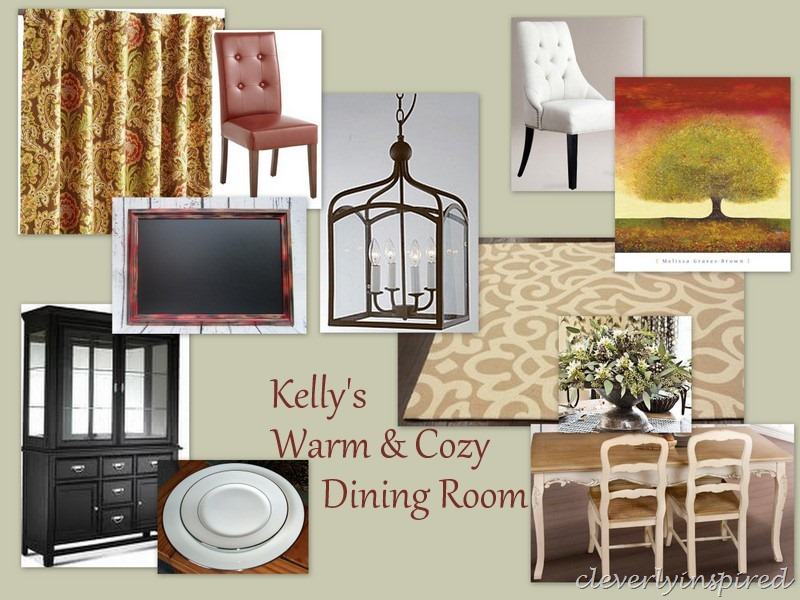 Cozy Dining Space: Warm And Cozy Dining Room (moodboard