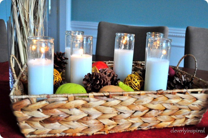 natural fall centerpiece @cleverlyinspired (18)