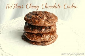 No flour Chewy Chocolate Cookie Recipe (gluten free cookie recipes)