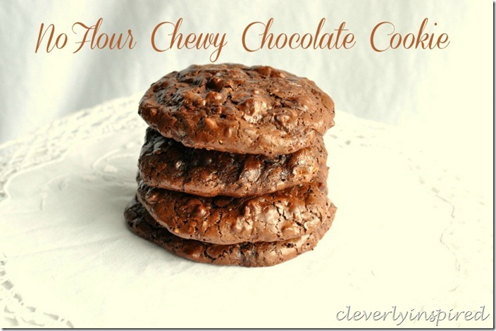 no flour chewy chocolate cookie @cleverlyinspired (10)