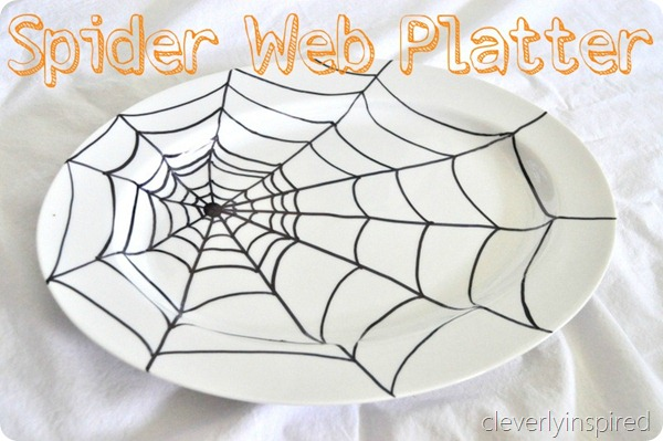 sharpie spider web platter diy @cleverlyinspired (5)